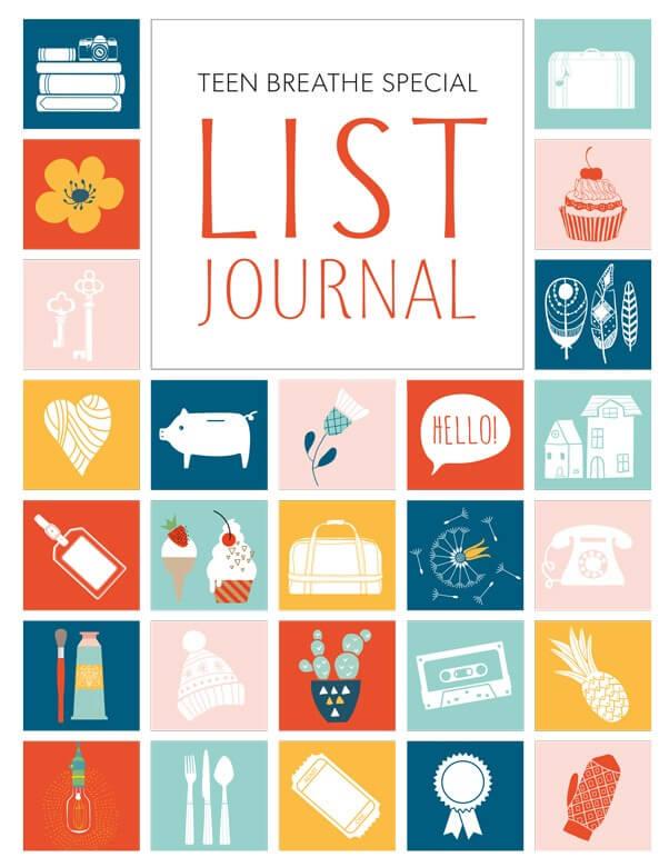 Teen Breathe List Journal